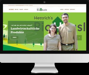 Webseite Hettrichs BioHäusle