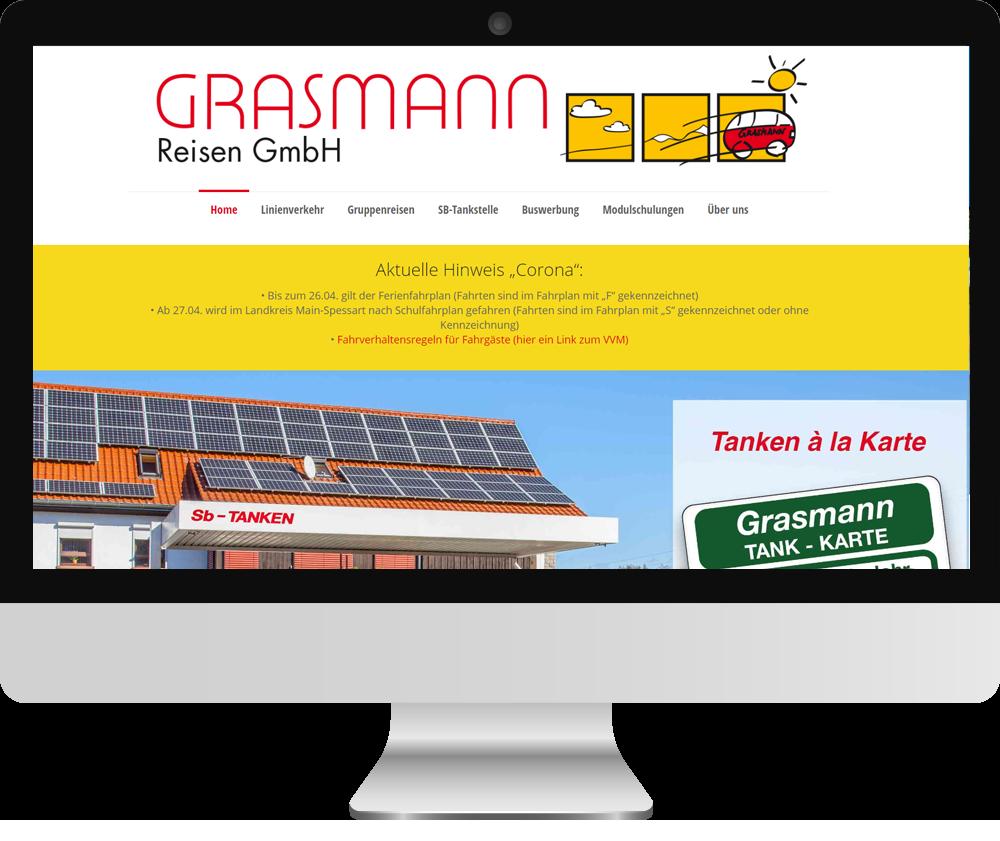 Webseite Grasmann Reisen