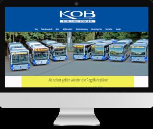 Webseite KOB
