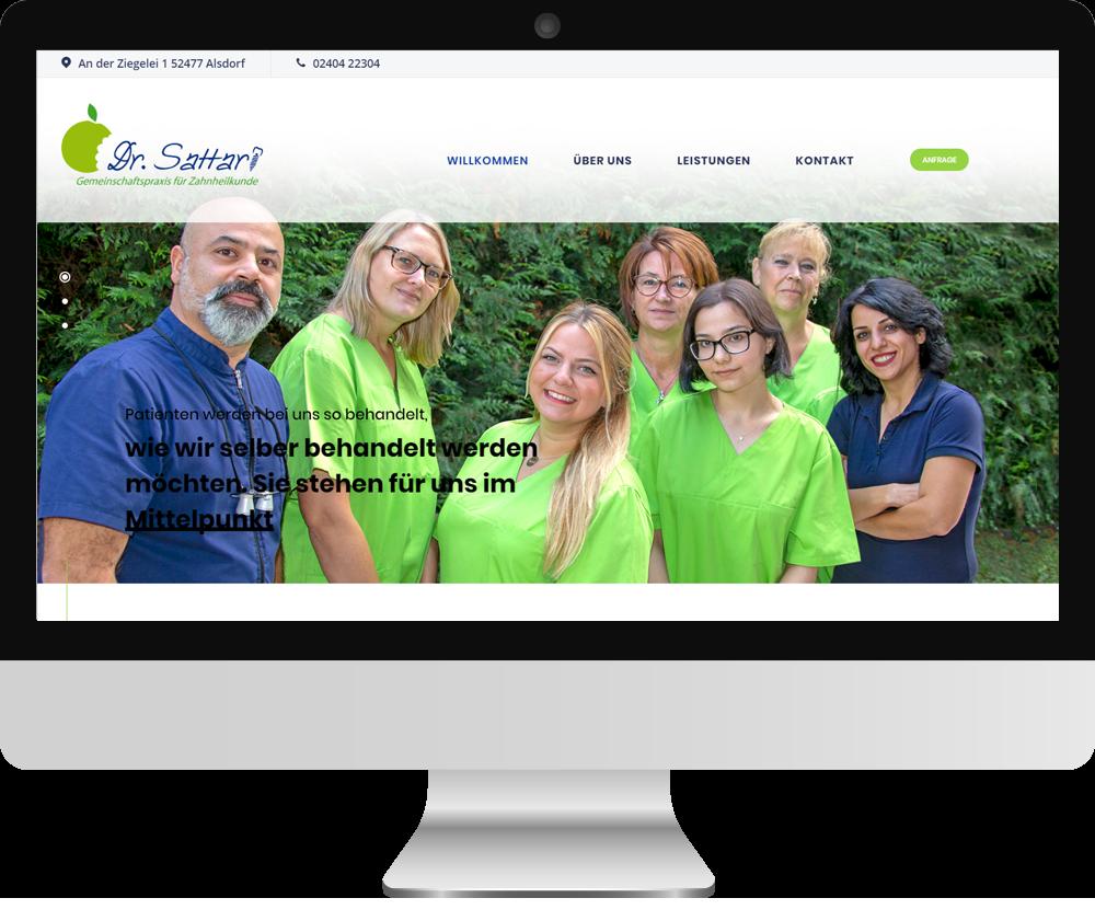 Webseite Dr. Sattari