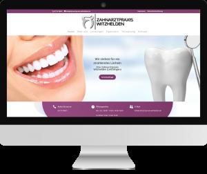 Webseite Zahnarzt Witzhelden