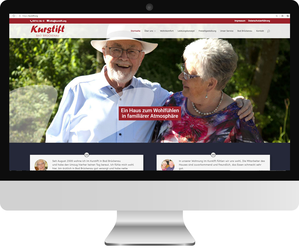 Webseite Kurstift