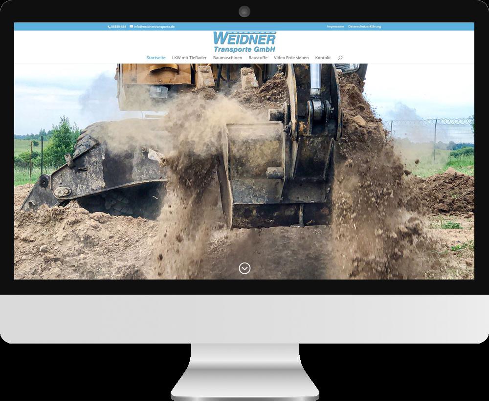 Webseite Weidner Transporte